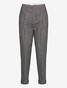 Law Trouser - slim fit bukser - charcoal melange