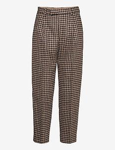 Alta Trouser - pantalons droits - beige duo check