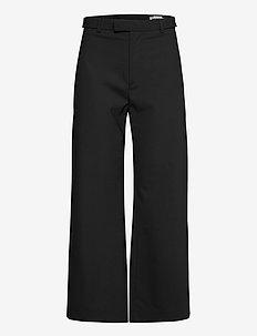 Knox Trouser - hosen mit weitem bein - black suit