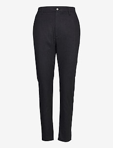 News Edit Trousers - casual bukser - black melange stripe
