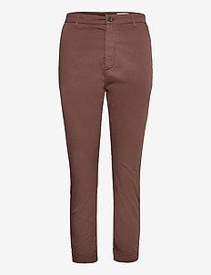 News Edit Trousers - rette bukser - brown