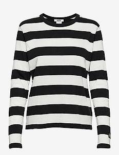Base LS Tee - tops met lange mouwen - off white stripe