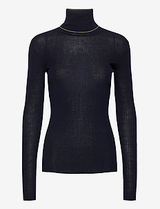 Polo Sweater - turtlenecks - dk navy