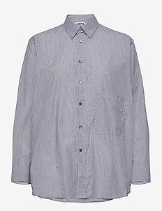 Elma Shirt - langermede skjorter - navy stripe