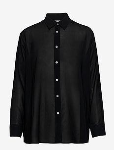 Elma Clean Shirt - langermede bluser - black