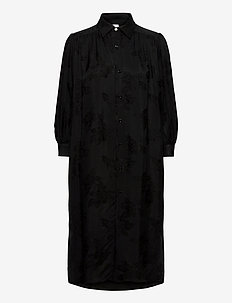 Land Dress - skjortekjoler - black jacquard