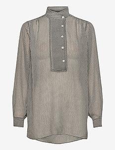 Pearl Shirt - langermede bluser - beige dogtooth
