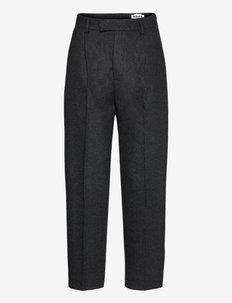 Alta Trousers - suorat housut - grey mel