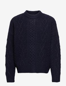 Bound Sweater - basic strik - dk navy