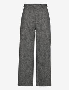 Knox Trousers - uitlopende broeken - grey herringbone
