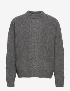 Bound Sweater - basic strik - grey mel