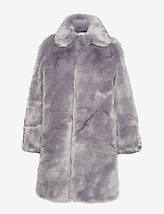 Viva Fur Coat - BLUE GREY