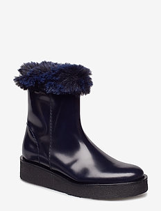 Sky Boot - flat ankle boots - navy
