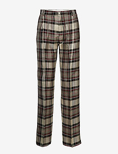 Soft Trouser - RED WINDOW CHECK