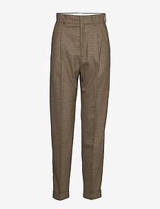 Star Trousers - spodnie proste - beige mel