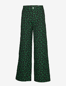 Ease Trousers - GREEN LETTER