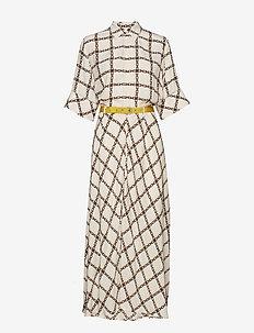 Grade Dress - OFF WHITE CHAIN PRIN