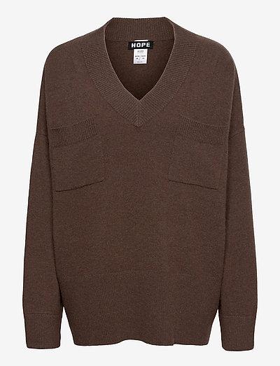 Cash Sweater - gensere - brown mel