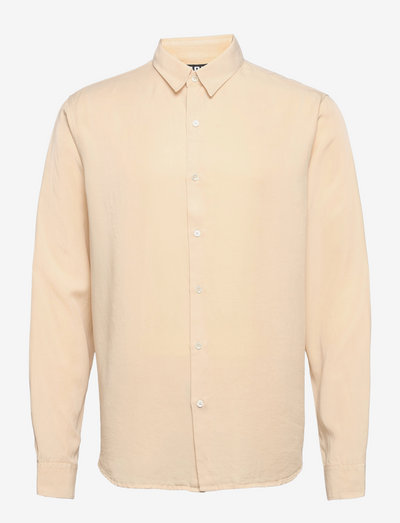 Air Clean Shirt - linneskjortor - soft beige
