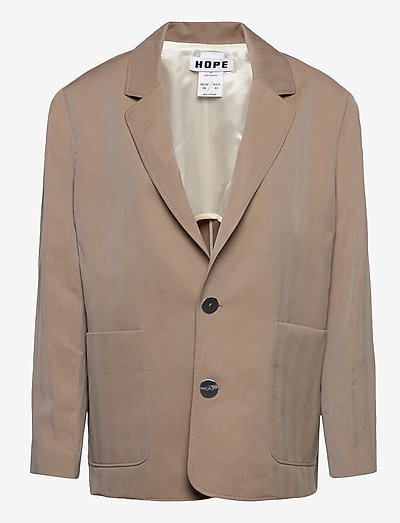 Bossa Blazer - oversize blazer - beige herringbone