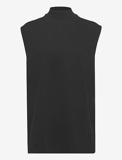 Turtle Tank - sleeveless tops - black