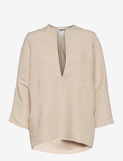 Deep Shirt - langermede bluser - beige