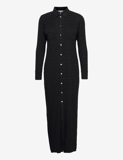 Nail Shirt Dress - skjortekjoler - black