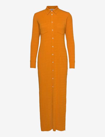Nail Shirt Dress - skjortekjoler - burnt orange