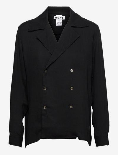 Double Shirt - oversize blazers - black