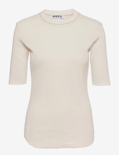 Heavy Rib Tee - t-shirts - offwhite
