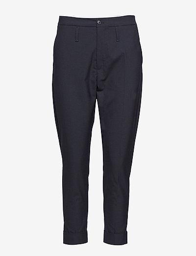 Law Trouser - rette bukser - black