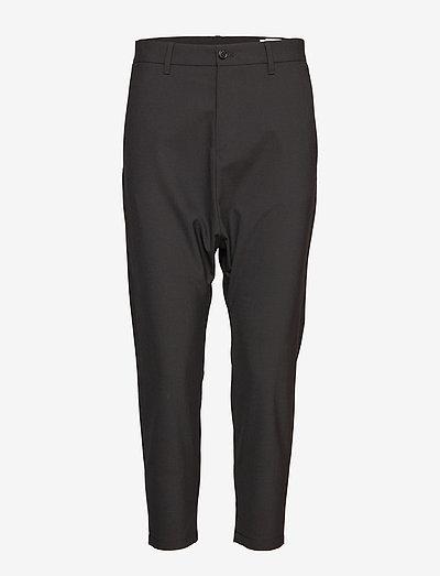Was Trouser - broeken med straight ben - black