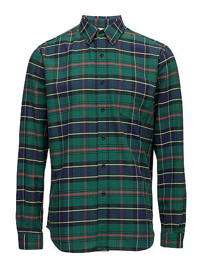 Button Shirt - GREEN CHECK