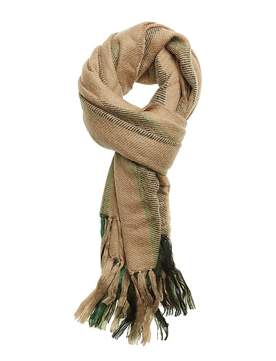 Cover Scarf - GREEN STRIPE