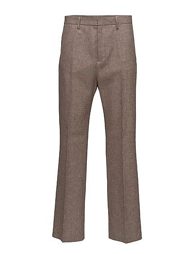 Wide Trouser - BEIGE CHECK