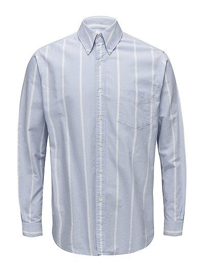 Button Down Shirt - BLUE STRIPE