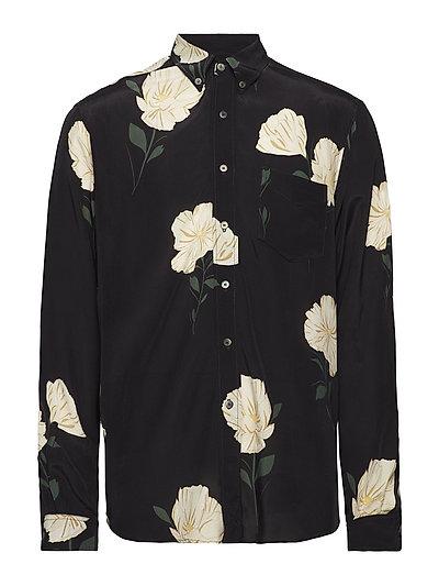 Button Down Shirt - WHITE FLOWER PRINT