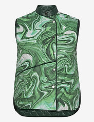 Hosbjerg - ALICE VICTORIA VEST - puffer vests - green liquid - 0
