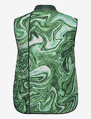 Hosbjerg - ALICE VICTORIA VEST - puffer vests - green liquid - 1