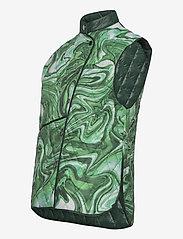 Hosbjerg - ALICE VICTORIA VEST - puffer vests - green liquid - 2