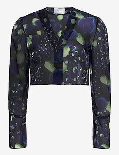 VADA DOT TOP - blouses à manches longues - blue/green dot
