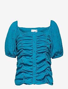 VITA TOP - blouses à manches courtes - blue