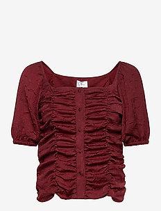 VITA TOP - blouses à manches courtes - bordeaux
