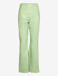 VALORA PANTS - pantalons en cuir - mint