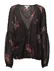 BLOUSE - BLACK PRINT