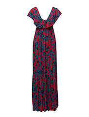 Maxi dress - RED PRINT