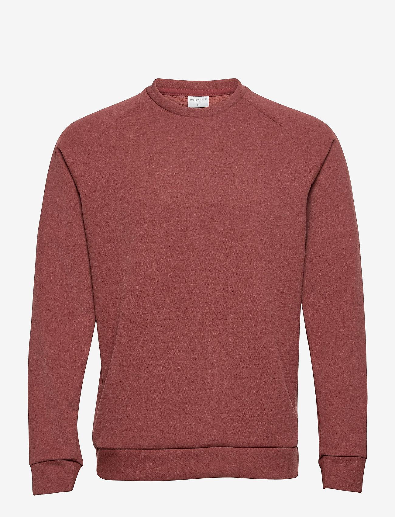 Houdini - M'sono Air Crew - basic-sweatshirts - terra red - 0