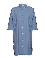 W's Route Shirt Dress - UP IN THE BLUE