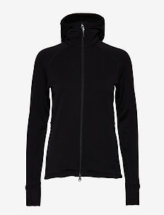 W's Power Houdi - mittlere lage aus fleece - true black