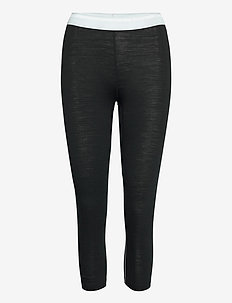 W's DeSoli 3/4 - base layer bottoms - true black